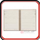 Kundenspezifische heiße Folien-Spirale-Kraftpapier-tägliche Planer-Tagesordnung