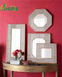 El espejo enmarcado Finished de oro de la pared de la antigüedad caliente de las ventas fijó 4 para la decoración casera
