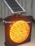 300/400 / 500LED Solar Yellow Flashing Caution Traffic Signal Light