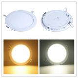 Iluminação 18W interna redonda da lâmpada do teto do diodo emissor de luz SMD2835 do entalhe 210mm da luz de painel 225mm do diodo emissor de luz de AC85-265V para baixo sem o excitador da cintilação