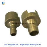 Raccords d'insertion en laiton OEM en laiton avec connecteurs de pièces d'usinage CNC