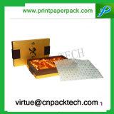 A annoncé la boîte-cadeau de luxe de papier d'emballage de bracelet avec le plateau de satin