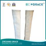 Bolso de filtro de alta temperatura/filtración/fibra de vidrio del aire/para la fábrica directa de la industria del cemento