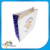 Impresso Reciclado trançado Handle personalizado Branco Kraft Transportadora saco de papel