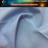 Nueva T/C tela de la camisa de la raya de 2017, tela teñida hilado llano para la camisa de alineada/la camisa del asunto