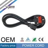 Câble BRITANNIQUE de cordon d'alimentation AC de la norme BS1363A d'homologation de Sipu 3c