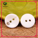 Белая кнопка смолаы с камнем пряжки Rhinestone