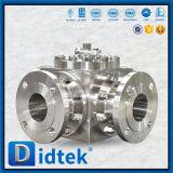 Didtek 플랜지는 스테인리스 CF8m 4 방법 공 벨브를 끝낸다