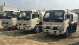 Caminhão do depósito de gasolina de 5000 litros 5 toneladas que reabastecem o caminhão do distribuidor