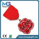 Médaille de poitrine à ruban court personnalisé avec pin de sécurité Retour