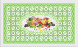 Tablecloth transparente impresso PVC impermeável da caraterística de Oilproof do projeto independente 90*145cm (TJ 0023)