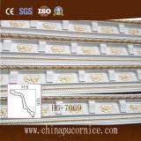 precio de fábrica de la cara grande del 15cm que talla la cornisa de la corona de la PU que moldea para la decoración interior del techo