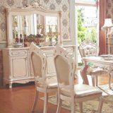 Vector de cena de madera con la silla de cena de madera para los muebles caseros (H807)