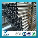 Profil rond personnalisé d'aluminium de pipe de tube d'extrusion en aluminium