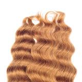 Ombre 페루 느슨한 깊은 직물 머리 4 뭉치 Ombre Virgin 페루 느슨한 깊은 컬 머리 크로셰 뜨개질 1b/Blonde/Dark 브라운 직물 머리
