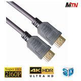 19pin 금은 연결관 2.0V 지원 4k 60p HDMI 케이블을 도금했다