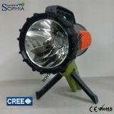 Neue 10W LED Taschenlampe mit vorderem Punkt-Licht und seitlichem Licht 6600mAh