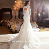 Longues robes de mariage de lacet de sirène de robes nuptiales de chemises Kz1040