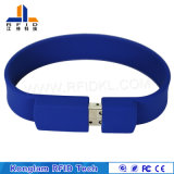 U Disk Silk Screen RFID Silicone Wristband for Security
