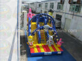 Corrediça inflável da pista dupla gigante, corrediça de salto sem a ligação