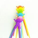 子供のための多色刷りの漫画のシリコーンのトレーニングの箸のホールダー