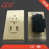 Zoccolo elettrico elettrico dell'interruttore dello zoccolo di parete del USB di stile americano