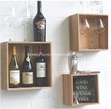 An der Wand befestigte hölzerne Wein-Zahnstangen-Möbel-Zahnstange für Speicherung