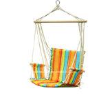 De opgevulde Stoel van de Schommeling van de Katoenen Hangmat van de Kabel Hangende met de Rust van het Wapen