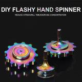 Hilandero llamativo de la mano del arco iris del juguete de la persona agitada del hilandero DIY de la persona agitada del metal