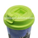 Taza del cono del polímero con el espacio en blanco de la sublimación