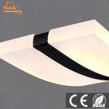 Decoración de la dimensión de una variable de la curva que cuelga la luz pendiente comercial del LED