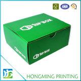 단 하나 색깔에 의하여 인쇄되는 물결 모양 구두 상자