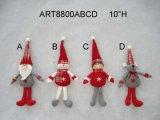 "10 "" H 산타클로스, 눈사람 및 마우스 크리스마스 나무 훈장 선물 4asst"