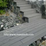 Decking compuesto de madera al aire libre barato moderno del grano WPC para el jardín