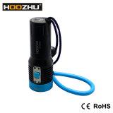 급강하 Vidoe 최대 2600lm를 위한 3개의 색깔 LED 토치는 120m Hoozhu V30를 방수 처리한다