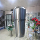 熱い販売の304のブラシをかけられた終わりのステンレス鋼の大きい鍋の花プランター鍋
