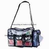 Bello sacchetto di plastica trasparente dell'estetica dell'articolo da toeletta di trucco del PVC della radura