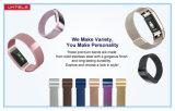 Last 2 van Fitbit Milanese Armband van het Metaal van het Roestvrij staal van de Lijn
