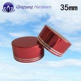 крышки Алюмини-Пластмассы 35mm глянцеватые красные для здоровых продуктов