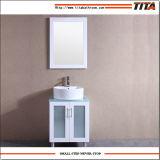 Vaidade de vidro T9140-24W do banheiro da parte superior da vaidade da laca branca