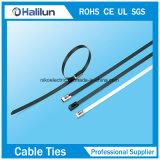 Atadura de cables revestida del bloqueo de la bola del epóxido del acero inoxidable en infante de marina
