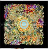 Grande écharpe carrée en soie 90*90cm pour des femmes