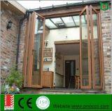 ألومنيوم يطوي نافذة وباب, يطوي أسلوب [غلسّ ويندوو] مزدوجة وباب يجعل في الصين مصنع