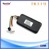 Tipo atado con alambre ocultado perseguidor del GPS con software y soporte técnico antirrobo (TK119)