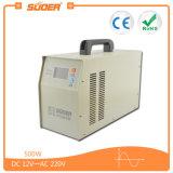 Чистая синусоида Инвертор Suoer UPS с зарядным устройством 500W DC 12V в 220V Инвертор солнечной энергии переменного тока (HPA-500CT)