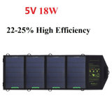 18W 5Vは出力される太陽充電器USBによって二倍になる