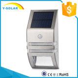 Lámpara solar con el silicio policristalino del sensor de movimiento 0.5W 4V usado en la luz al aire libre SL1-25 de la pared
