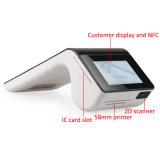 4G tout dans un terminal sans fil de position de l'écran tactile EMV avec l'imprimante de réception