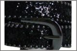 Fashion Black Glitter PU Lady's Belt