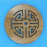 De ronde Mat van de Thee van het Bamboe, het Kussen van de Thee van het Bamboe, het Stootkussen van de Thee van het Bamboe